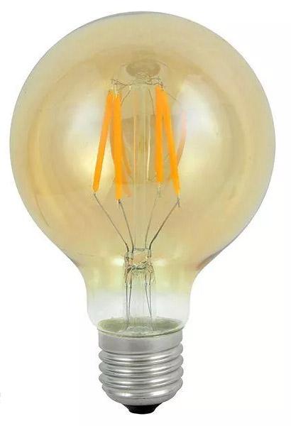 Polux Filament Dekoracyjna Led E27 G125 3,7W Ciepła 304544