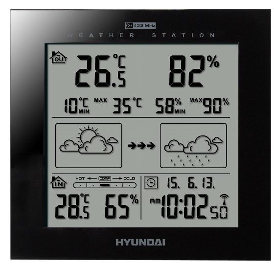 Stacja pogodowa Hyundai WS 2244 B