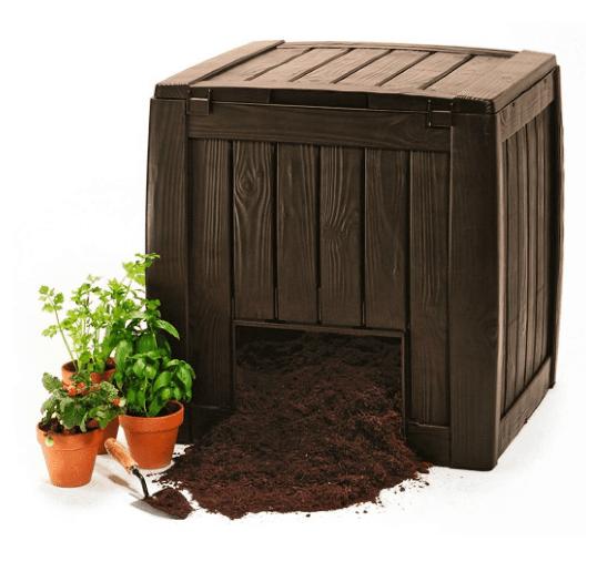 Kompostownik do ogrodu Keter Deco Composter Brązowy 340L
