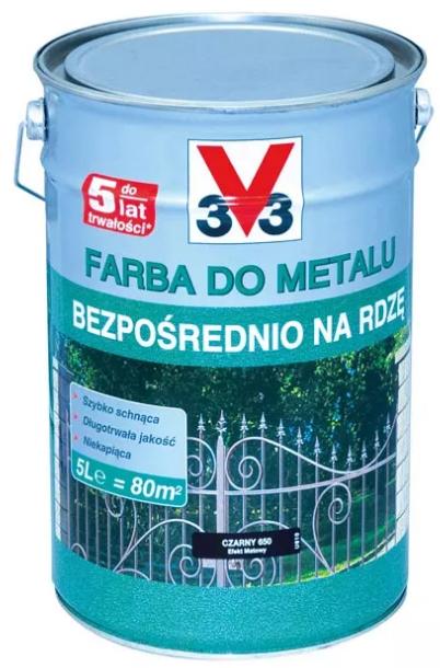 V33 3V3 do metalu mat Czarny