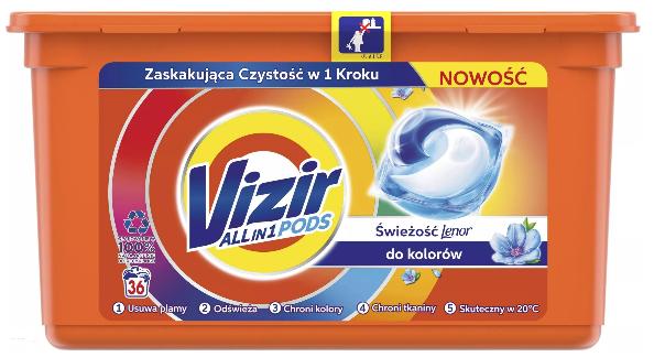 Kapsułki Vizir Freshness 3 x 36 szt.