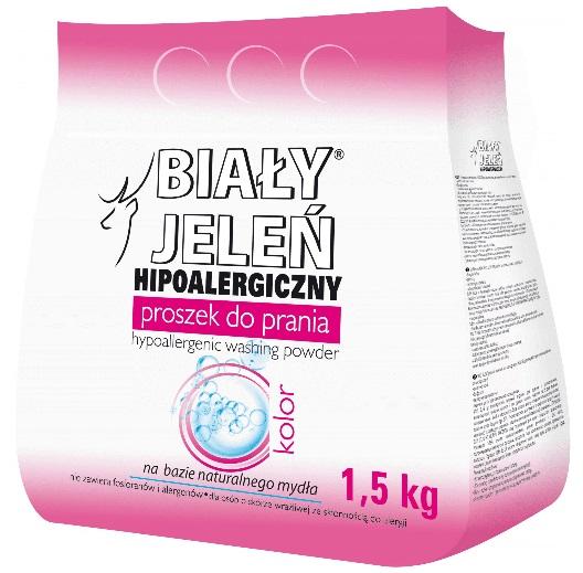 Proszek do prania Biały Jeleń Hypoalergiczny Kolor 1,5 kg