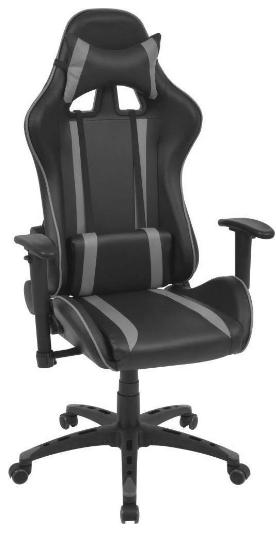 Fotel biurowy Vidaxl Rozkładane Krzesło Biurowe Sportowe Sztuczna Skóra